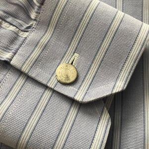 Hermes Shirts - Hermès Mens Lavender Stripe Shirt